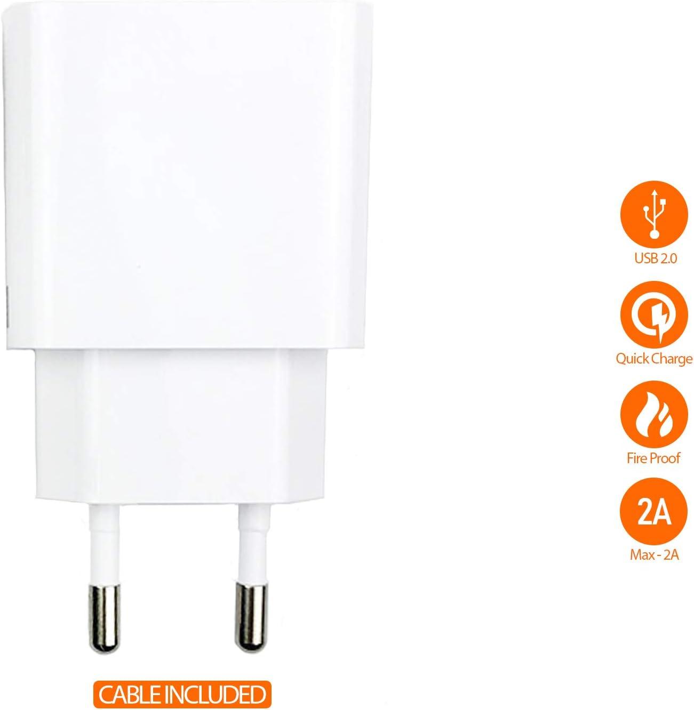 OEM Mi Cargador Original Xiaomi MDY-09-EW (5V/2A) + Cable Tipo C (Blanco, Bulk)