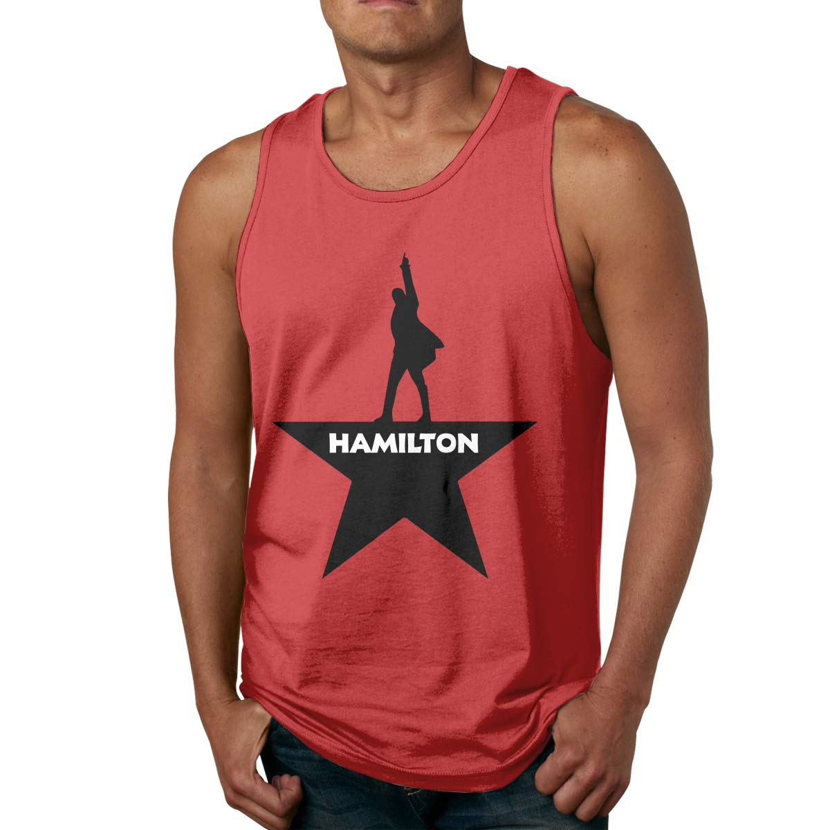 Cheny Musicals Hamilton Mens Tank Tops Slim Fit Muscle Shirt