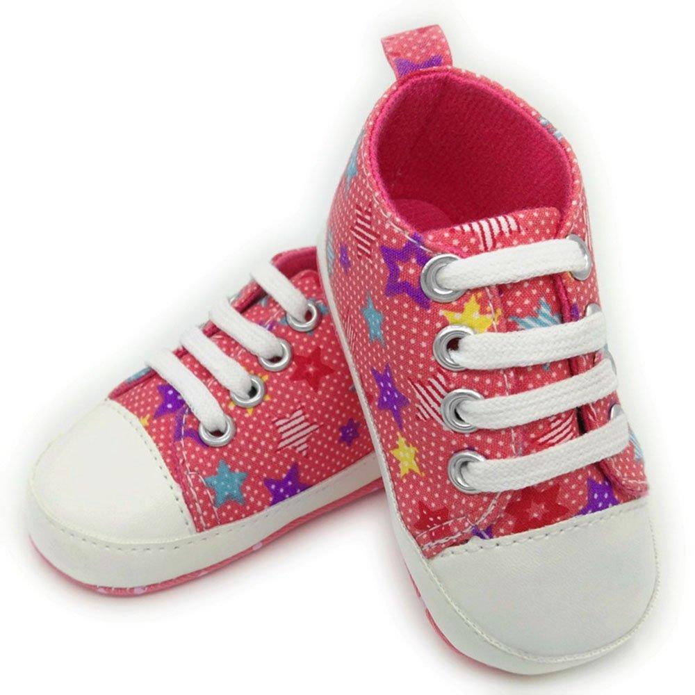biaozh recién nacido bebé Niños y Niñas pre-walking zapatos para 0 - 18 meses (5colors) rojo Red Star Talla:6-12 meses: Amazon.es: Bebé
