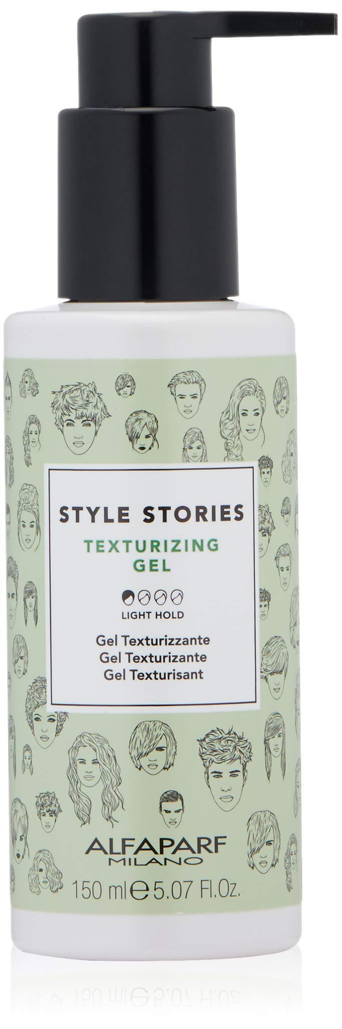Alfaparf Milano Style Stories Texturizing Gel Styling Product - Light Hold - Professional Salon Quality - Increases Volume and Body  - 5.07 fl. oz. by Alfaparf Milano