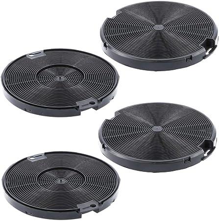 Filtro de carbón activo, 150 mm de diámetro, juego de 2 para campana extractora adecuada como alternativa para filtro de carbón 4055093712, para extractor de humos AEG, Electrolux, Ikea 2 Sets: Amazon.es: Hogar