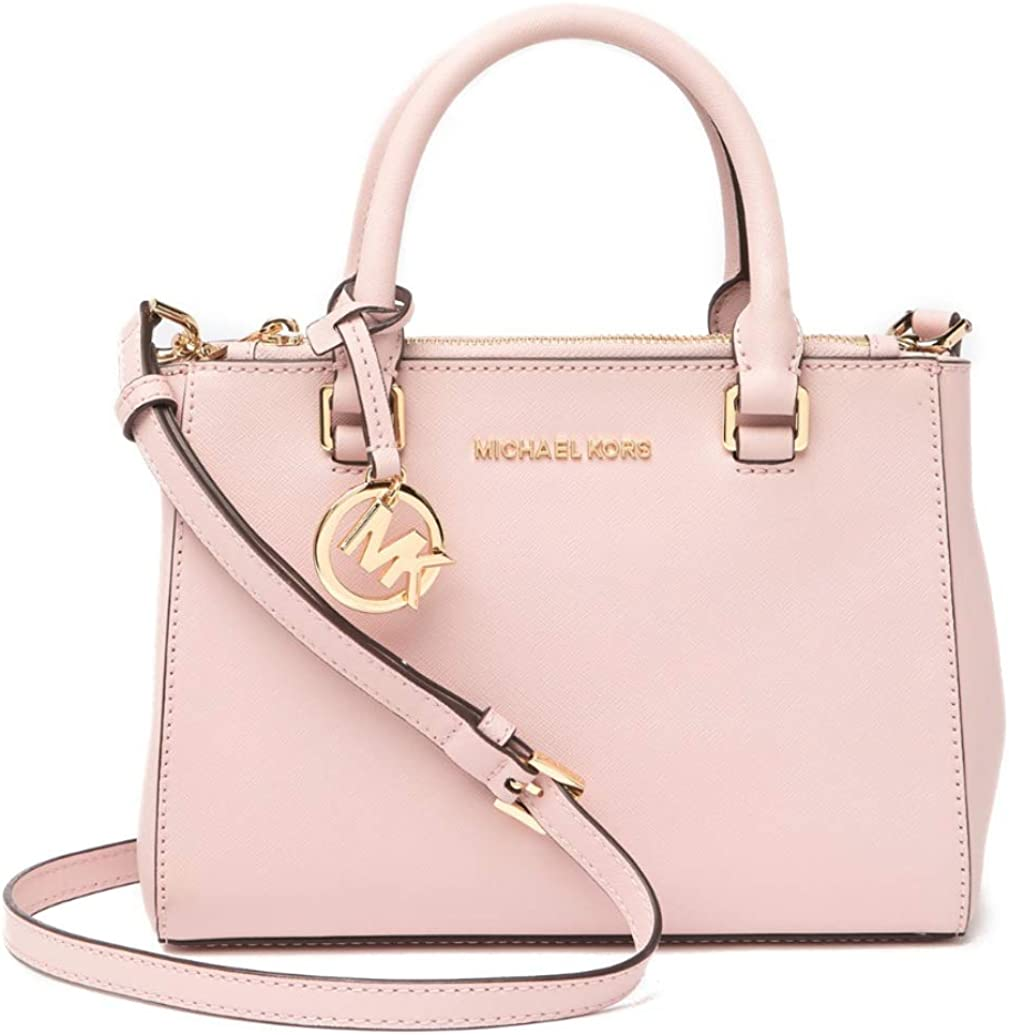 Michael Michael Kors Gibson Leather Satchel Soft PinkGold