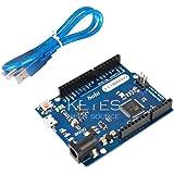 Solu Leonardo with Headers for Arduino + Free USB Cable/Leonardo Compatible Arduino Revision R3 Atmega32u4 with USB…