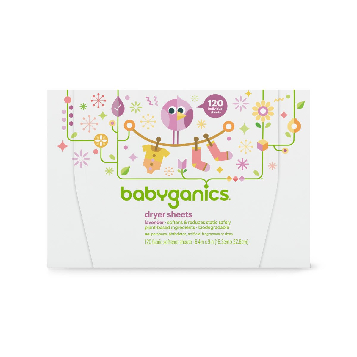Amazon.com: Babyganics Dryer Sheets, 120 count, Packaging May Vary ...