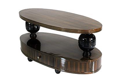 Amazon Com Makassar Ebony Art Deco Style Coffee Table Kitchen Dining