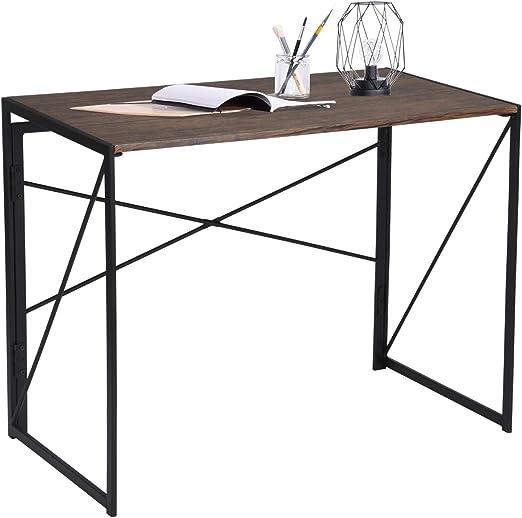 furniture-r Francia mesa para ordenador plegable (madera y metal ...
