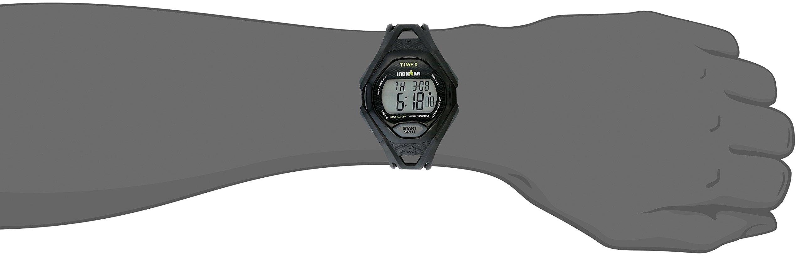 Timex Men's TW5M10400 Ironman Sleek 30 Black Resin Strap Watch by Timex (Image #4)