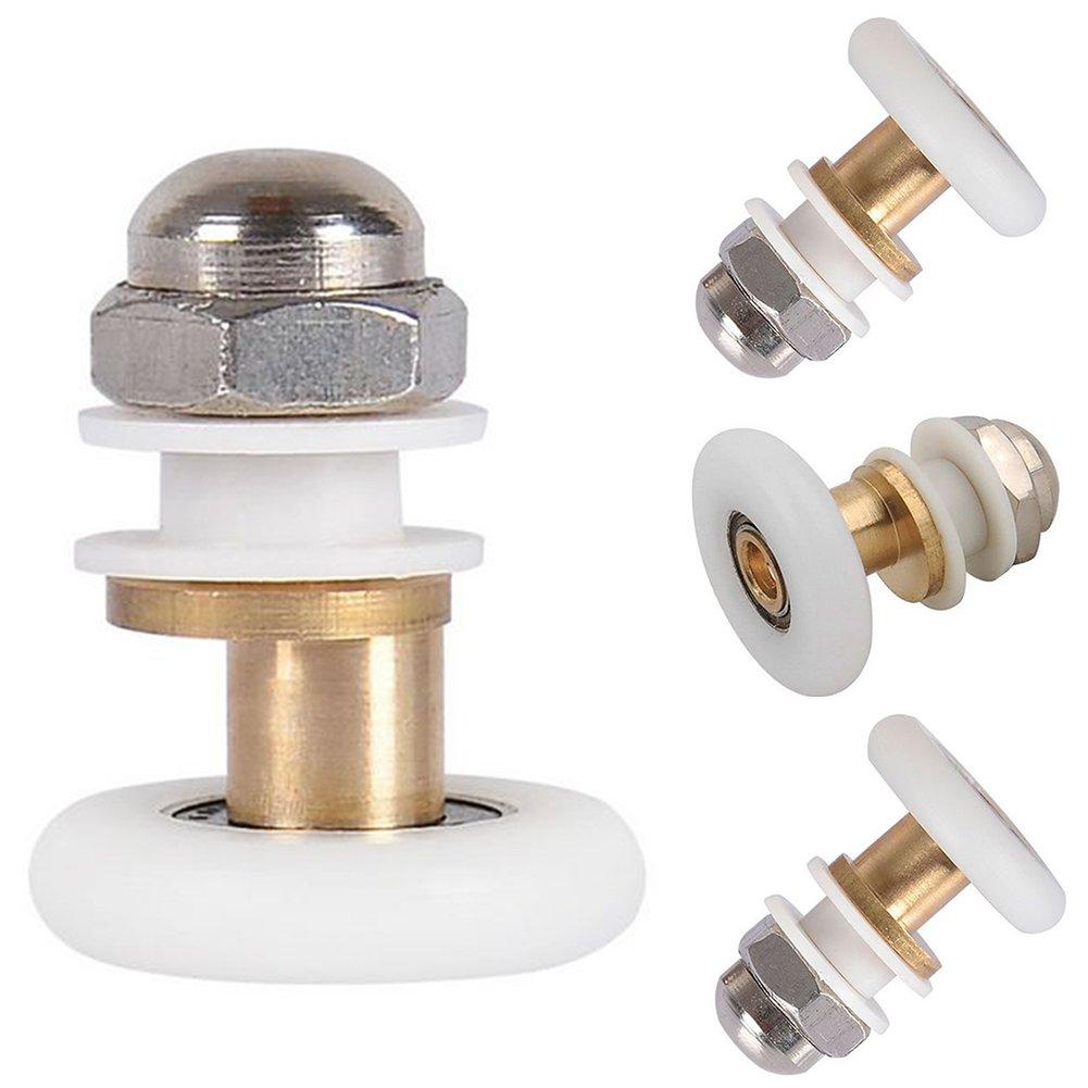 bagno Rulli per porta della doccia bricolage bagno pezzi di ricambio scorrevoli semplici 25 mm//27 mm casa