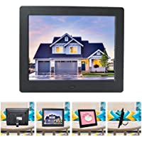 Riosupply 8 Inch Digital Photo Frame and Multimedia Player - Display Video and Photos and Music Play