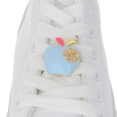 a2fb3997c18b3 Amazon.com: Apple Blue Shoelace Charm: Shoes