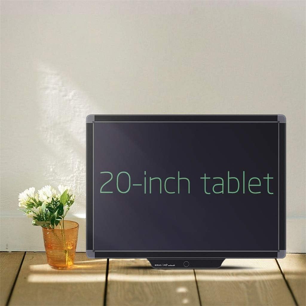 Tablero de Escritura LCD de 20 Pulgadas de Pantalla Grande/Tablero de Graffiti/Pizarra electrónica/Tablero de Mensajes [borrar con un botón] / Adecuado para Familia, Escuela, Oficina (Negro): Amazon.es: Hogar