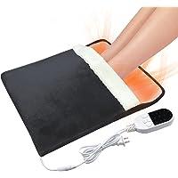 Elektrische voetenwarmer, elektrische voetenwarmer voor thuis en op kantoor, 12-uurs timer, superzacht flanel, gebruikt…