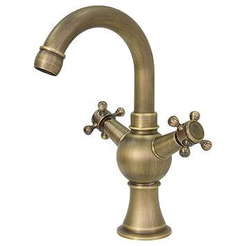 Retro Einhebel Wasserhahn Waschbecken Küche Bad Waschtisch Armatur 1 Griff Neu
