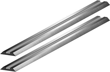 Lot de 10 lames de rabot r/éversibles en acier rapide pour Makita Bosch B/&D Hitachi 82 mm