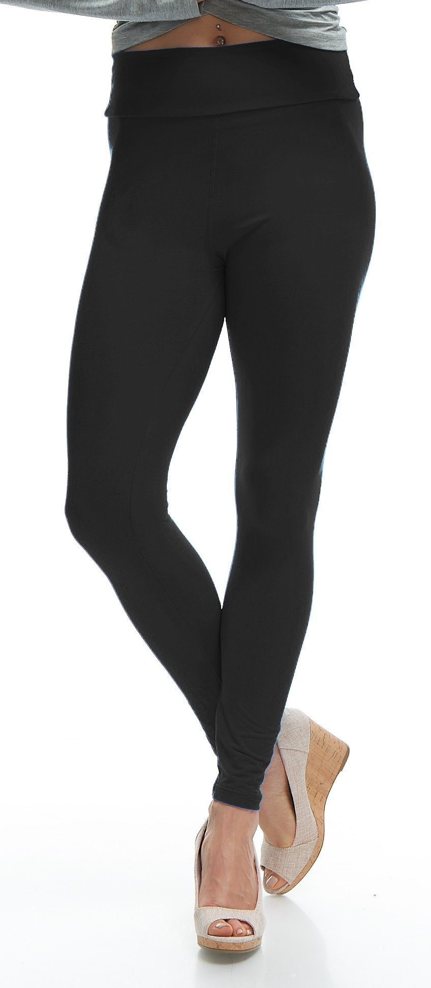 LMB Yoga Leggings Buttery Soft Material - Variety of Colors - Black by LMB (Image #3)