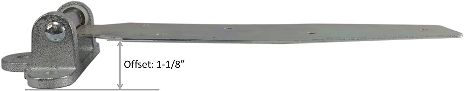 Offset: 1-1//8 Kason 1074 Series Chrome Reversible Steel Strap Hinge for Walk-in Freezer//Refrigerator Select Offset from Flush and 1-1//8
