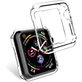 Apple Watch Case 44mm, 2pcs Transparent Apple Watch Series 4 44mm Protective Bumper Case Cover Apple Watch Frame Shell Protector TPU Replacement Accessories for iWatch Apple Watch Series 4 44mm