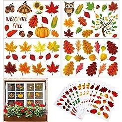 180 Pieces Thanksgiving Fall Autumn Leav...