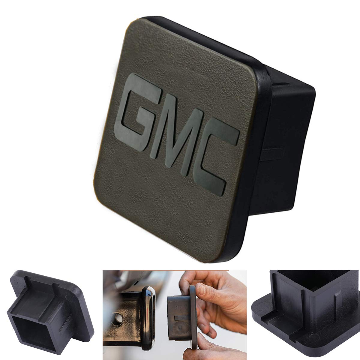 GMC Logo Rubber Receiver Tube Hitch Plug,Trailer Hitch Tube Cover Plug Cap for GMC,GMC Trailer Hitch Cover by Goodcover