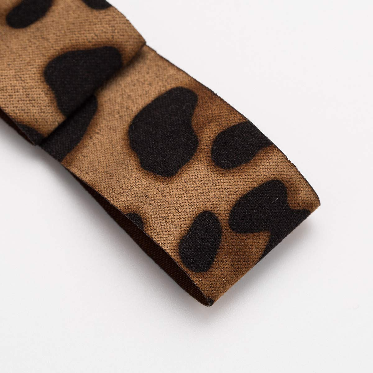 DDLKK Leopard Print Bow Tie Bow Tie Pre-Tied Ribbon Jewelry Ladies and Ladies Accessories Ladies Zipper and Pin Jacket for The Insect Alloy Plating Pins for The Jacket