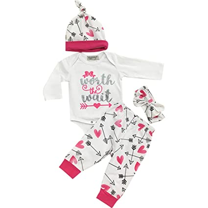 sukisuki bebé niñas manga larga ropa Set, letras impreso Toddler recién nacido pelele Jumpsuits Navidad trajes White&Rose Talla:0-6 meses: Amazon.es: Bebé