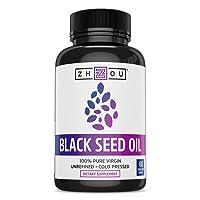 Black Seed Oil Capsules - 100% Virgin, Cold Pressed Source of Omega 3 6 9 - Nigella...