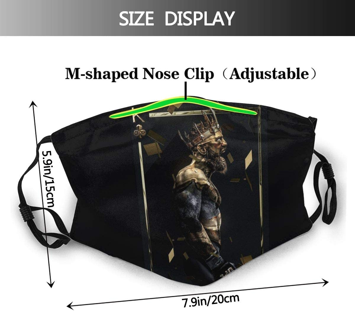 Conor Mcgregor Ufc Mma Champion Bellator Adults Adjustable Earloop Mouth Face Cover Anti-Dust with 6 Filters Reusable Protection Anti Pollution