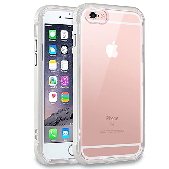 444b664bdf iPhone 6s Plus Case, LOEV [Crystal Clear] iPhone 6 Plus Protective Case  with Reinforced PC Bumper + Transparent TPU Clear Back Design, Shockproof Cover  Case ...