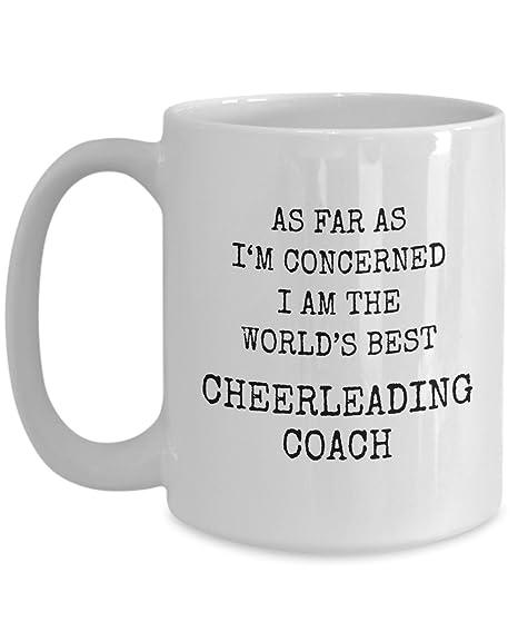 Amazon.com: Cheerleading Coach Mug Perfect Gift With Funny ...