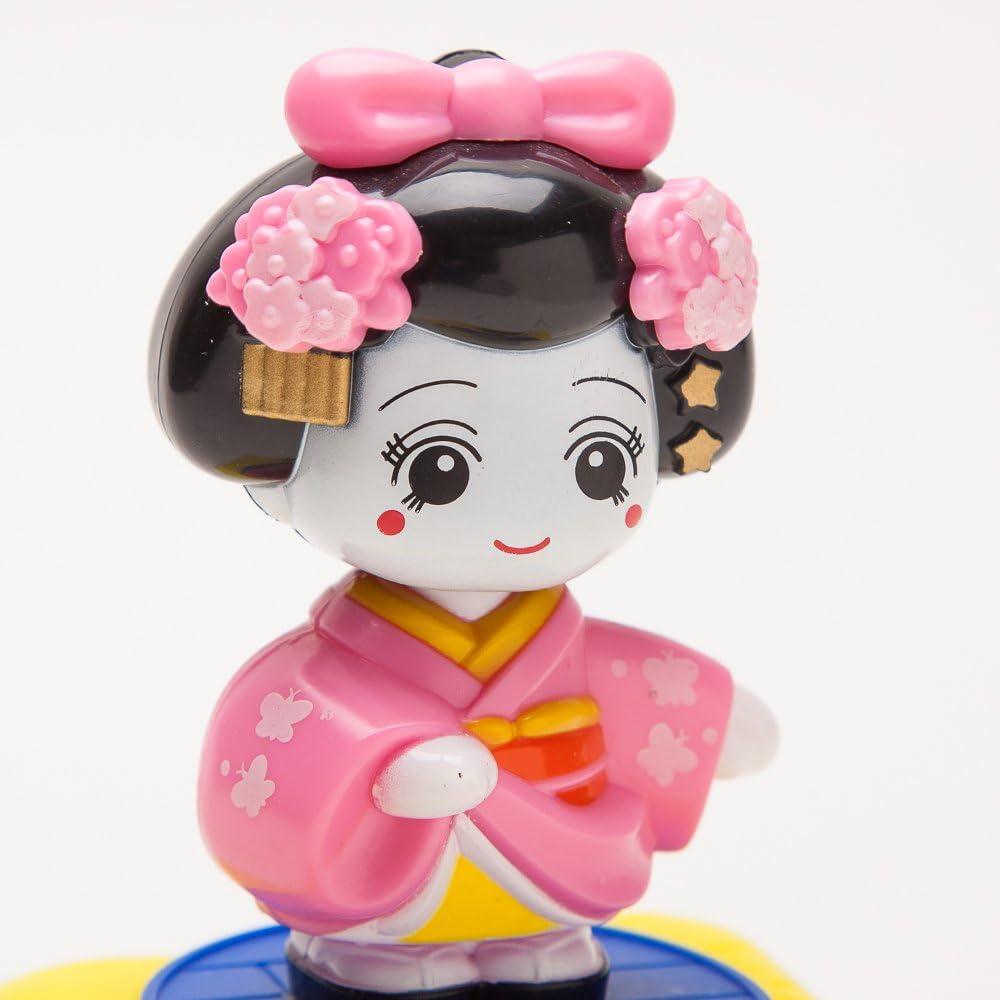 Pink SPT104 THY COLLECTIBLES Solar Powered Bobblehead Toy Figure Nohohon Japanese Kimono Maiko Geisha