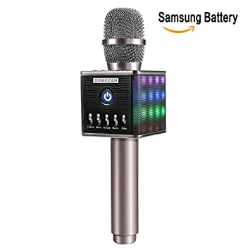 Karaoke Microphone Wireless, Domezan Bluetooth Speaker Mic with