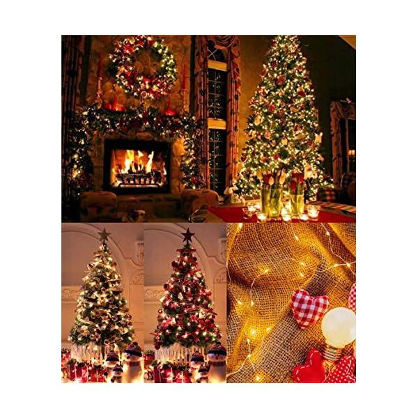 ACDE 2 Pezzi 10M/100 LED Catena Luminosa Stringa Luci Impermeabile con EU Spina Adattatore per Natalizie Festa Nozze Decorazioni - Bianco Caldo 2 spesavip