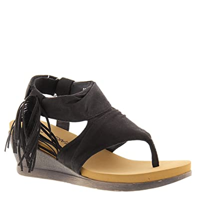 120cdd2411 Amazon.com | BEARPAW Women's Avril Comfort Thong Wedge Sandals ...