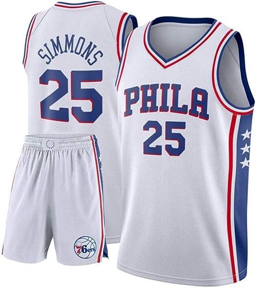 AKCHIUY Camiseta De Baloncesto para Hombre # 25 - NBA Philadelphia ...