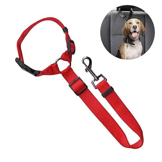 Surenhap Cinturón de Seguridad para Perros arnés Ajustable para ...