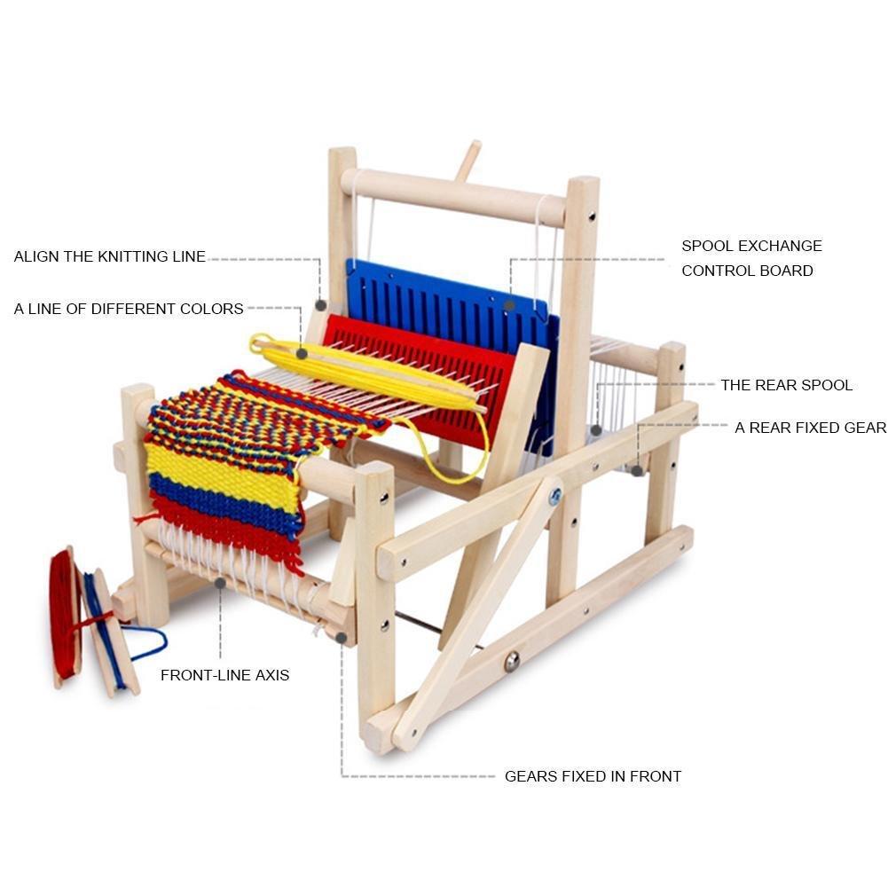 Gracefulvara従来Wooden HandニットWeaving Loomおもちゃセット子供クラフトボックスホームDIYクラフトツール   B07DK8SFC1