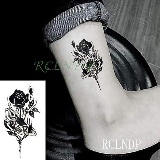 3 PC Impermeabilizan la Etiqueta engomada del Tatuaje de la Flor ...