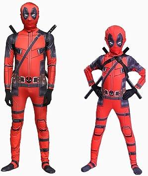 Yanbeng Marvel Deadpool Disfraz Disfraz Adulto Niños Halloween Cosplay Mono Spandex Cosplay Disfraces Conjunto Completo De Ropa Children S Amazon Es Deportes Y Aire Libre