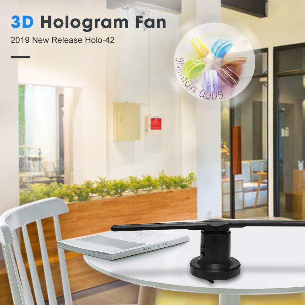 HUIGE 3D Proyector Holográfico, Wi-Fi HD de 720p Publicidad Proyector Exhibición Publicitario Imágenes de Rotación El Ventilador LED de Ojo Desnudo 3D es el Mejor para Tienda, Tienda, Bar, Casino: Amazon.es: Hogar