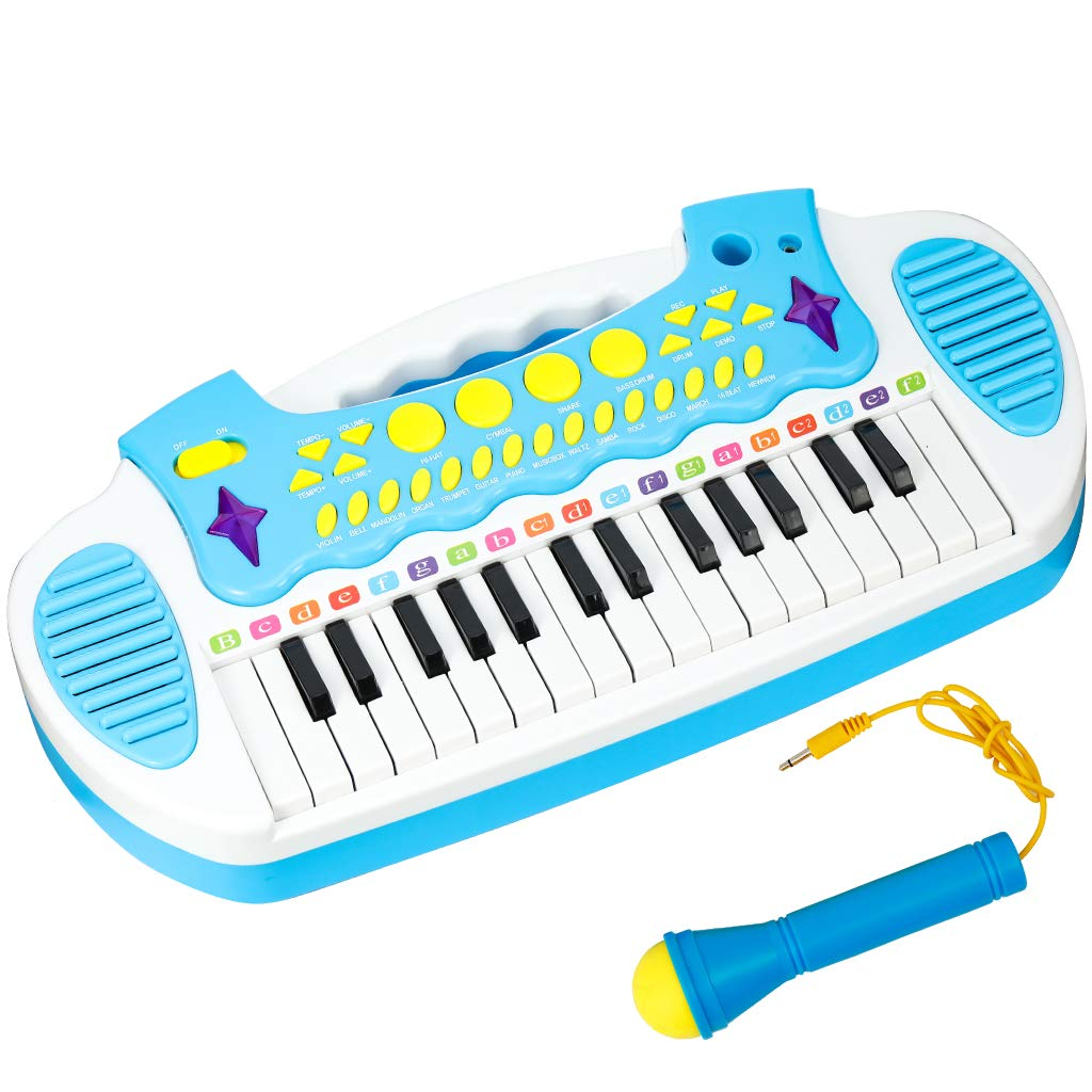 Conomus Piano Keyboard Toy for Age 2 3 4 Year Old Girls First Birthday Gift , 31 Keys Multifunctional Musical Electronic Toy Piano for Toddlers by Conomus