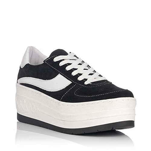 a95b564103 SixtySeven Black Platform Sneakers: Amazon.co.uk: Shoes & Bags