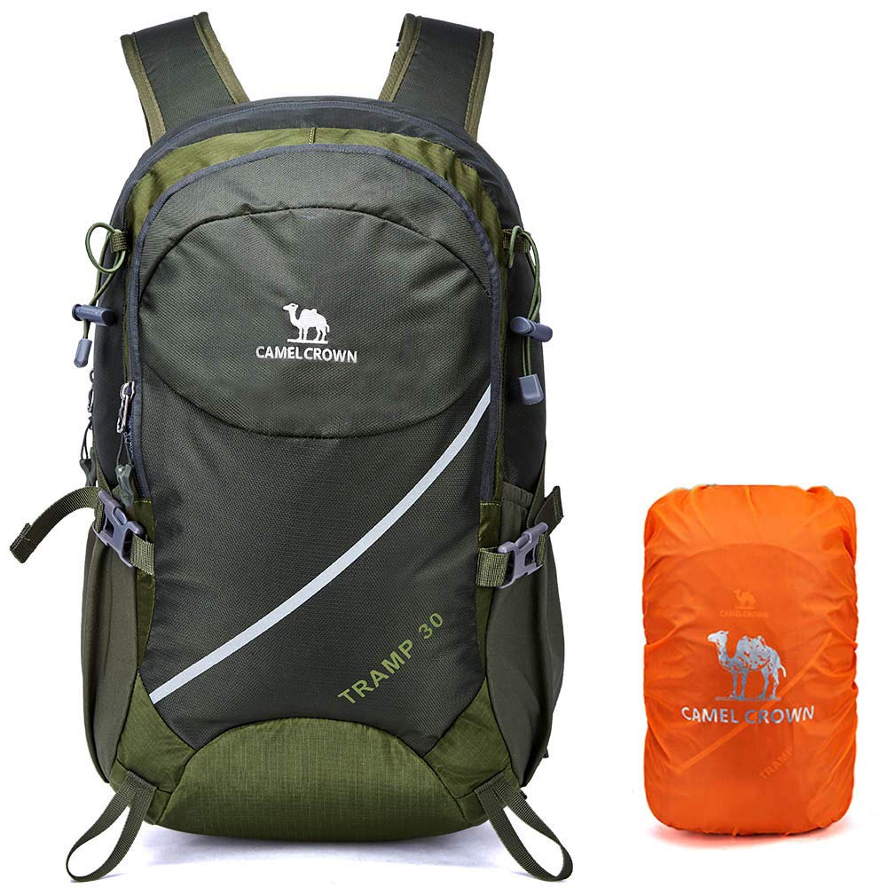 Waterproof Hiking Backpack 30L Camping Dayback with Rain Cover Outdoor Backpack