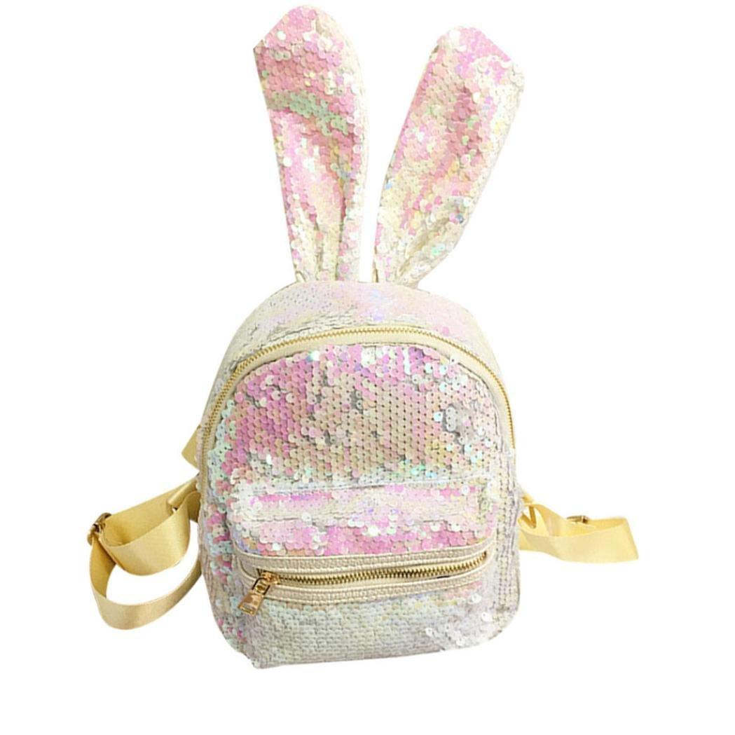 70da8fde41f5 Amazon.com: Hmlai Women Fashion Sequins Mini Backpack School Bag ...