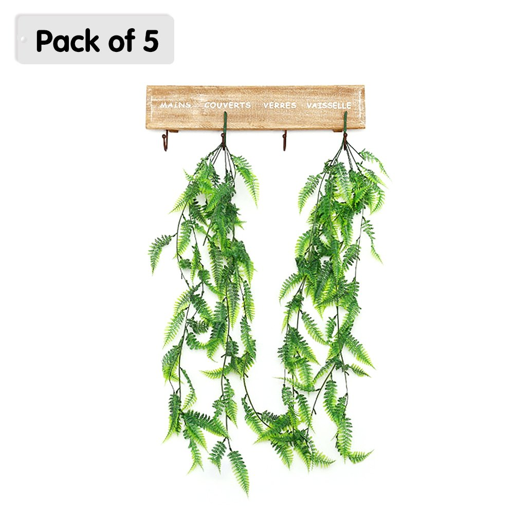 Ya jin 5pcs /ロットLifelikeプラスチック人工アイビーつる植物ハンギング植物フェイク花ホームガーデンウェディングの装飾 グリーン YJUKZS558-1 B079R4D99C Persian Rattan