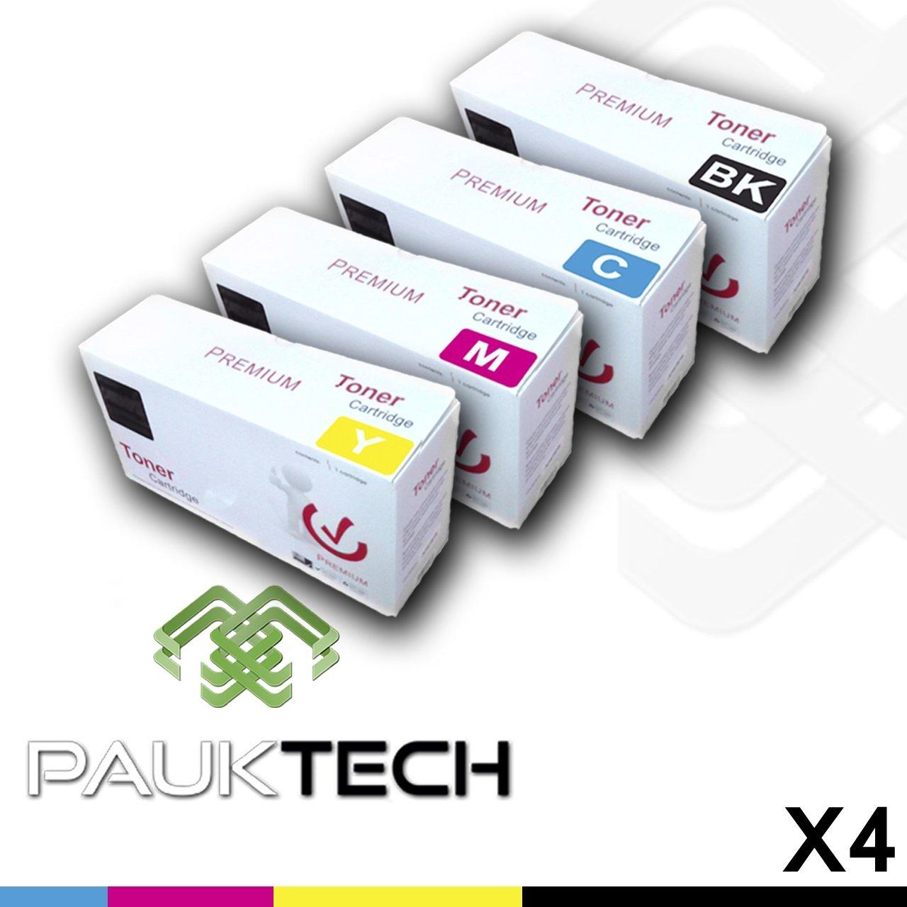 PAUKTECH - Pack 4 Cartuchos de Toner Laser compatibles Multicolor ...