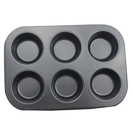 hosaire hierro molde antiadherente cacerola 6 agujeros para horno budín de chocolate de repostería molde Pan