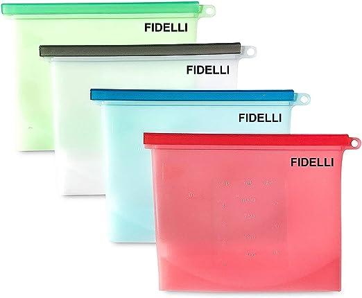 Fidelli, bolsas de silicona reutilizables para almacenar alimentos ...