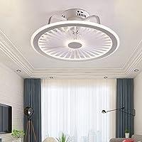 Dempen Plafondventilatorlamp met verlichting App en afstandsbediening Ultradunne 18CM Plafondlamp Onzichtbaar stil LED…