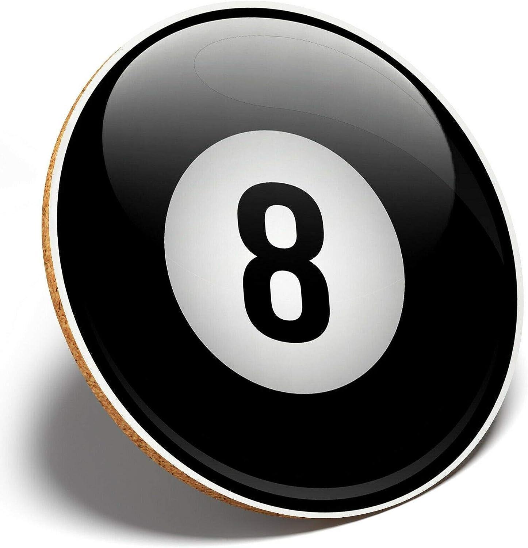 1 x Lucky 8 Ball Pool Snooker – Posavasos redondo Cocina Estudiante Niños Regalo #4707: Amazon.es: Hogar