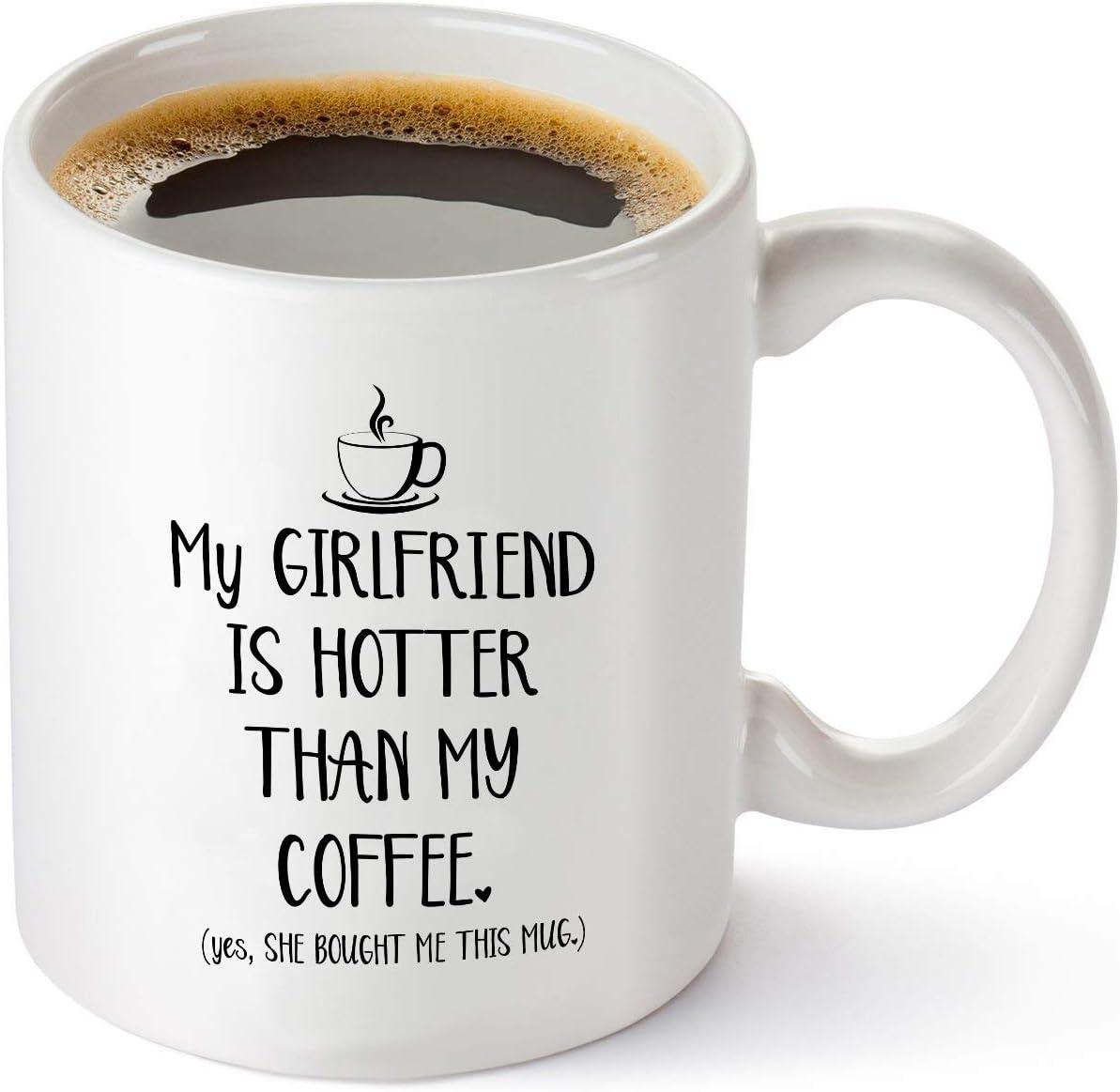 Amazon Com My Girlfriend Is Hotter Than My Coffee Funny Mug